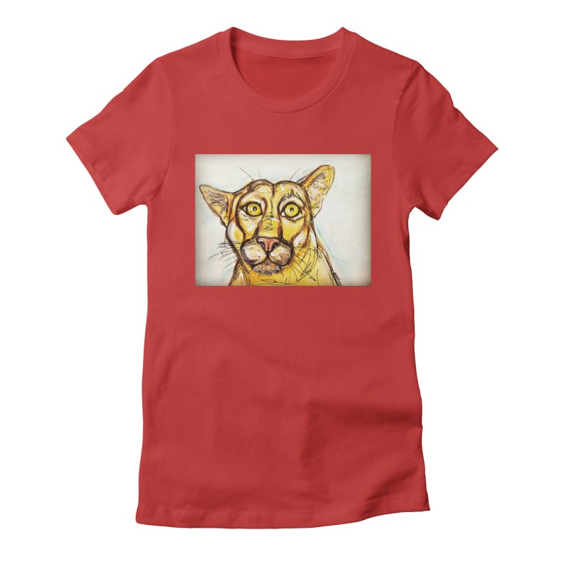 Puma Women's Fitted T-Shirt by AlmaT's Artist Shop