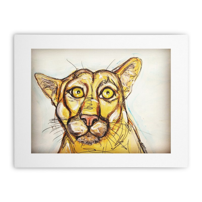 Puma Home Stretched Canvas by AlmaT's Artist Shop