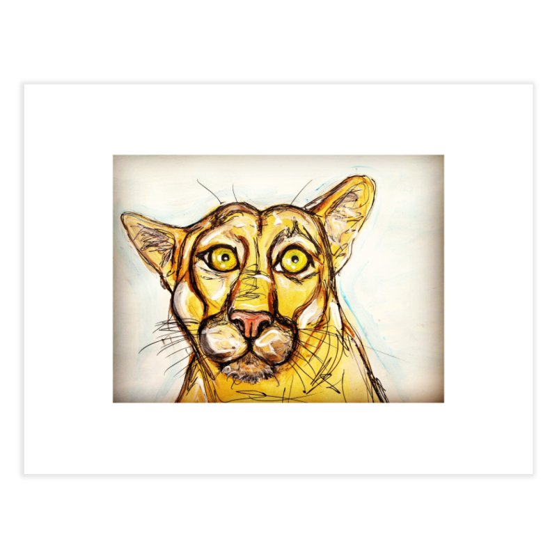 Puma Home Fine Art Print by AlmaT's Artist Shop