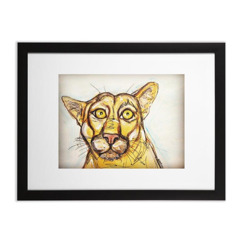 Puma Home Framed Fine Art Print by AlmaT's Artist Shop