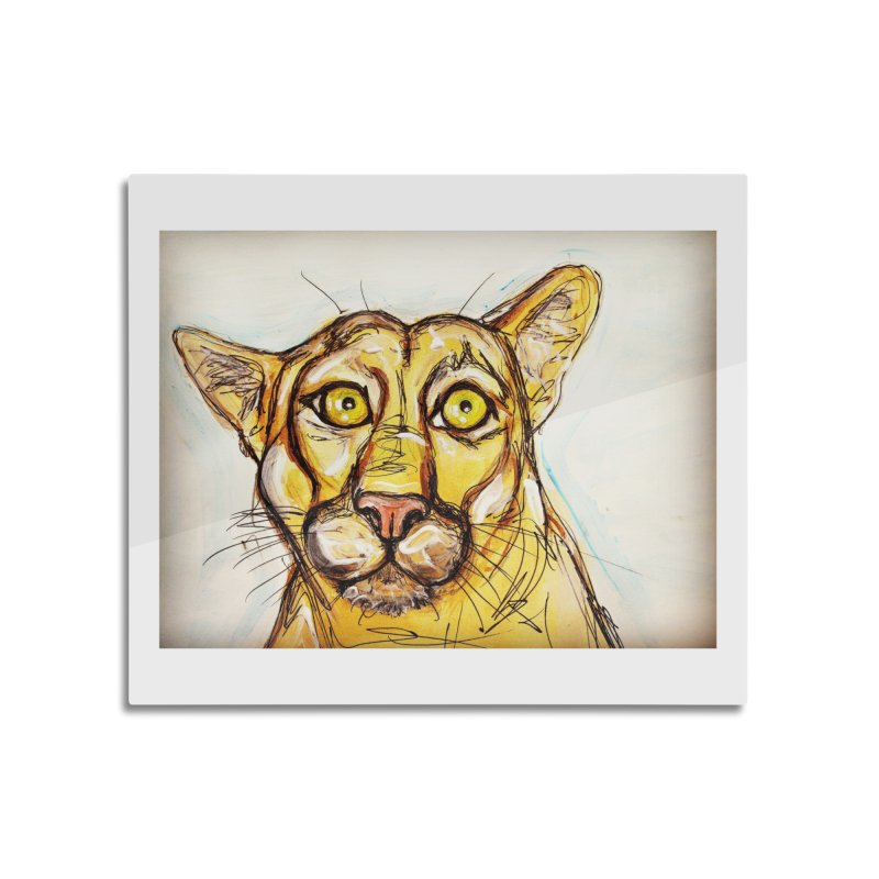 Puma Home Mounted Acrylic Print by AlmaT's Artist Shop
