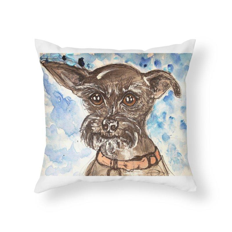 Ellie Home Throw Pillow by AlmaT's Artist Shop