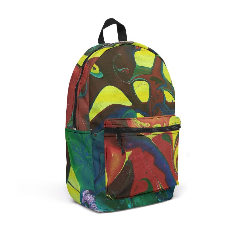 Abstract Flowers Accessories Backpack Bag by AlmaT's Artist Shop