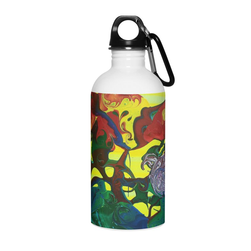 Abstract Flowers Accessories Water Bottle by AlmaT's Artist Shop