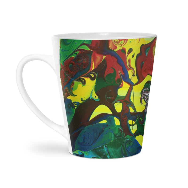 Abstract Flowers Accessories Latte Mug by AlmaT's Artist Shop