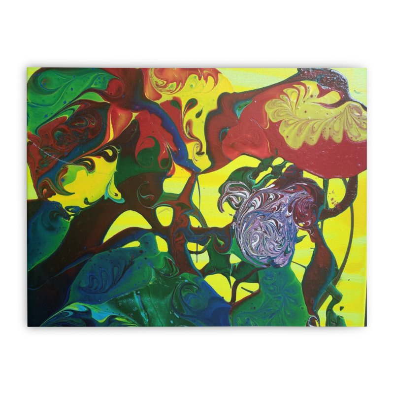 Abstract Flowers Home Stretched Canvas by AlmaT's Artist Shop