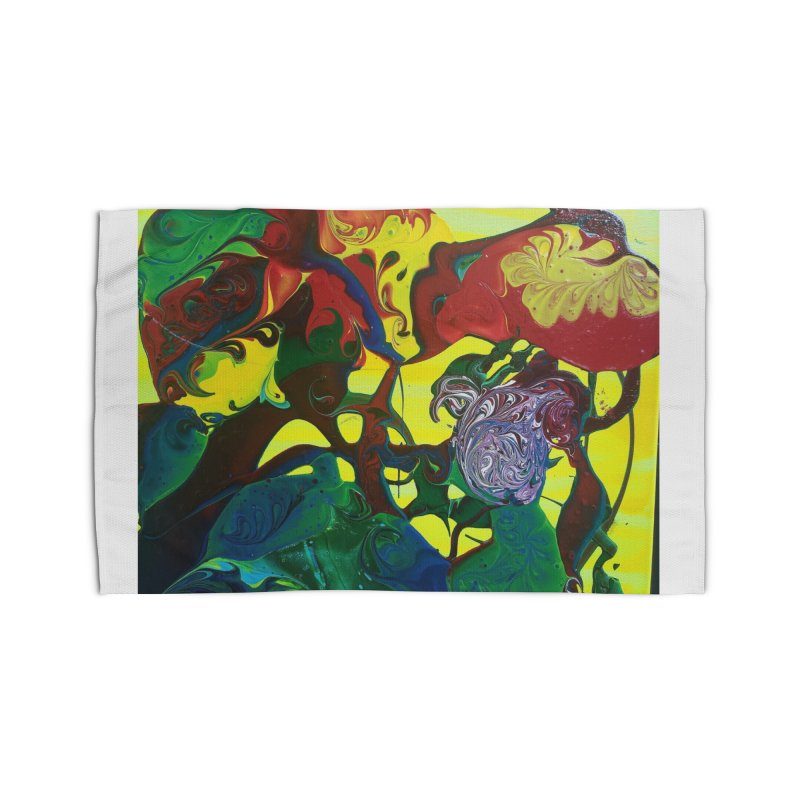 Abstract Flowers Home Rug by AlmaT's Artist Shop