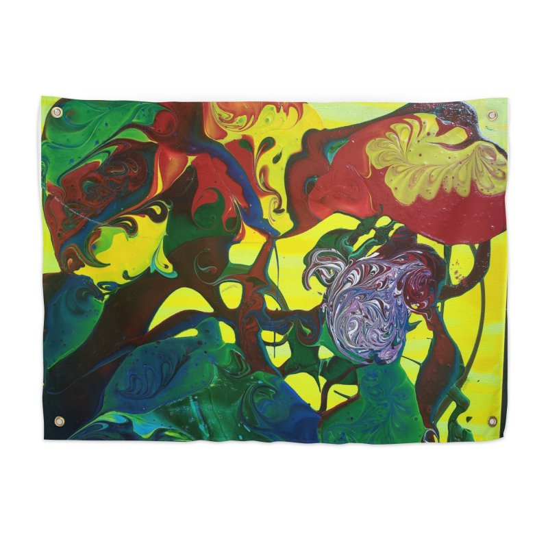 Abstract Flowers Home Tapestry by AlmaT's Artist Shop