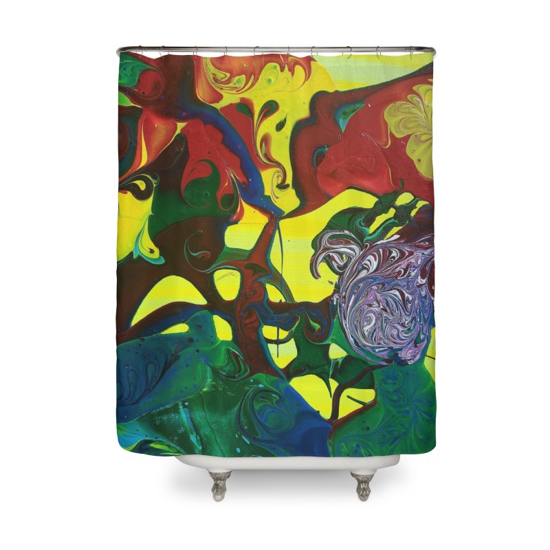 Abstract Flowers Home Shower Curtain by AlmaT's Artist Shop