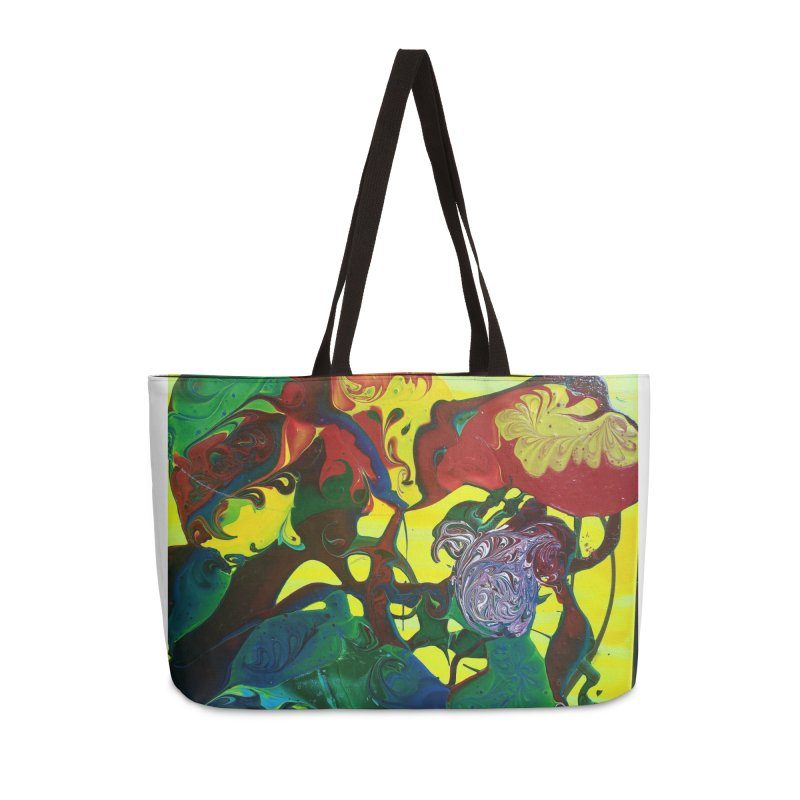 Abstract Flowers Accessories Weekender Bag Bag by AlmaT's Artist Shop