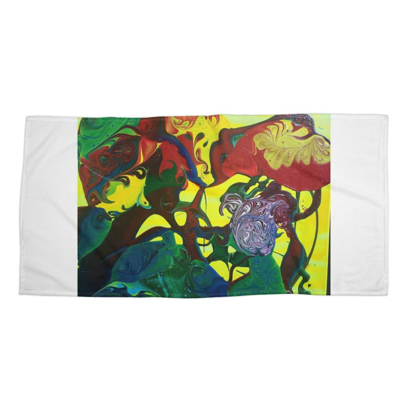 Abstract Flowers Accessories Beach Towel by AlmaT's Artist Shop