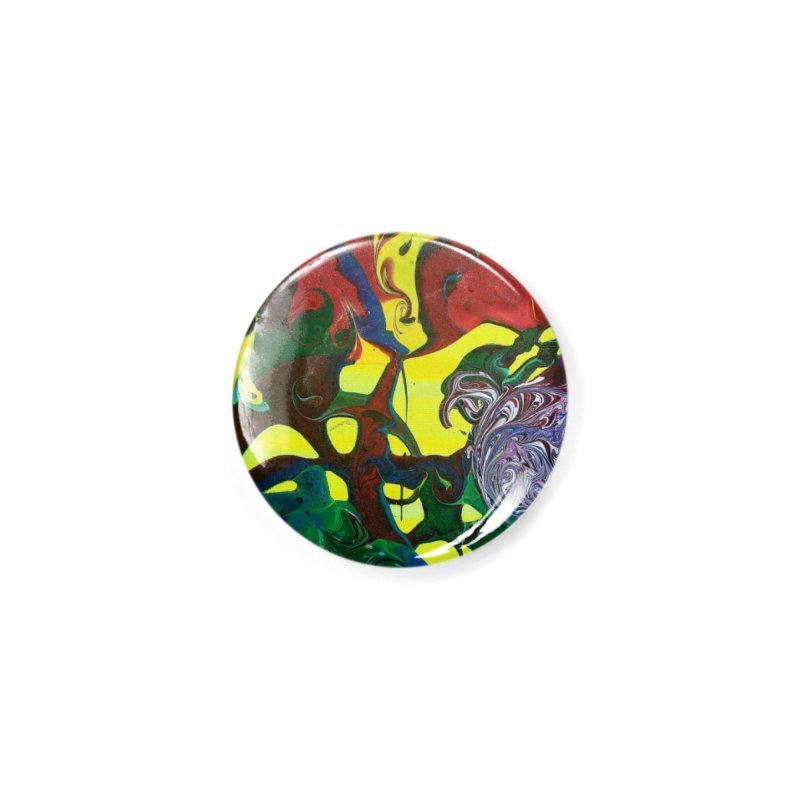 Abstract Flowers Accessories Button by AlmaT's Artist Shop