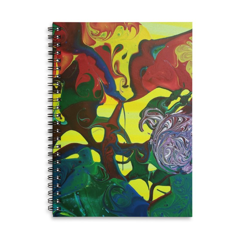 Abstract Flowers Accessories Lined Spiral Notebook by AlmaT's Artist Shop