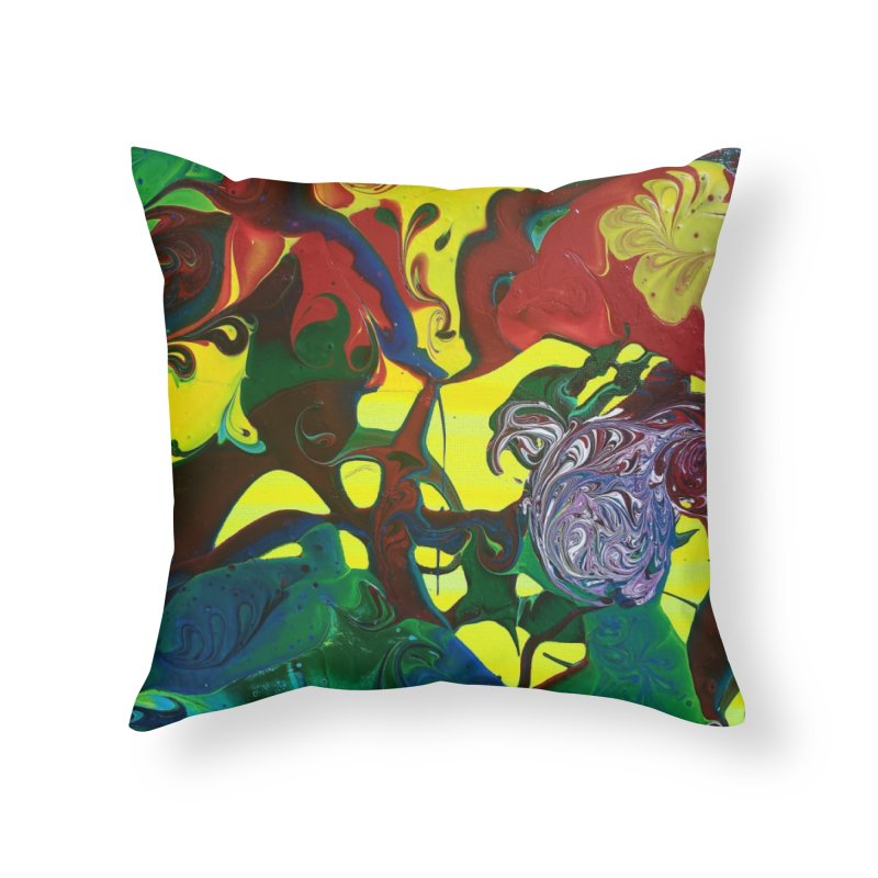 Abstract Flowers Home Throw Pillow by AlmaT's Artist Shop