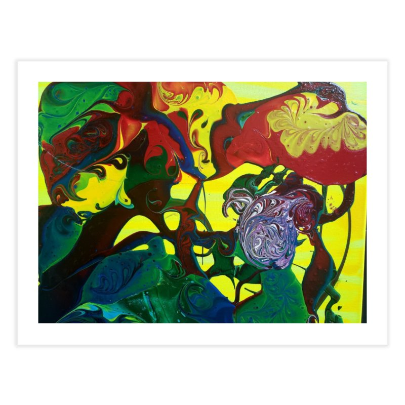 Abstract Flowers Home Fine Art Print by AlmaT's Artist Shop