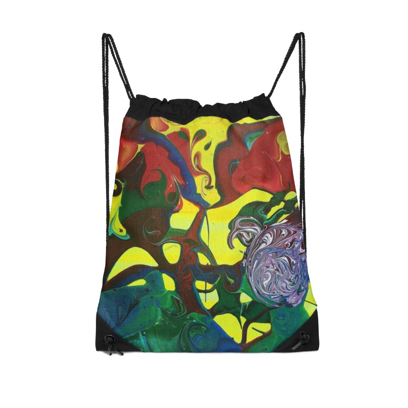 Abstract Flowers Accessories Drawstring Bag Bag by AlmaT's Artist Shop