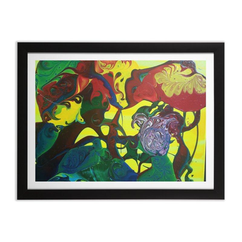 Abstract Flowers Home Framed Fine Art Print by AlmaT's Artist Shop