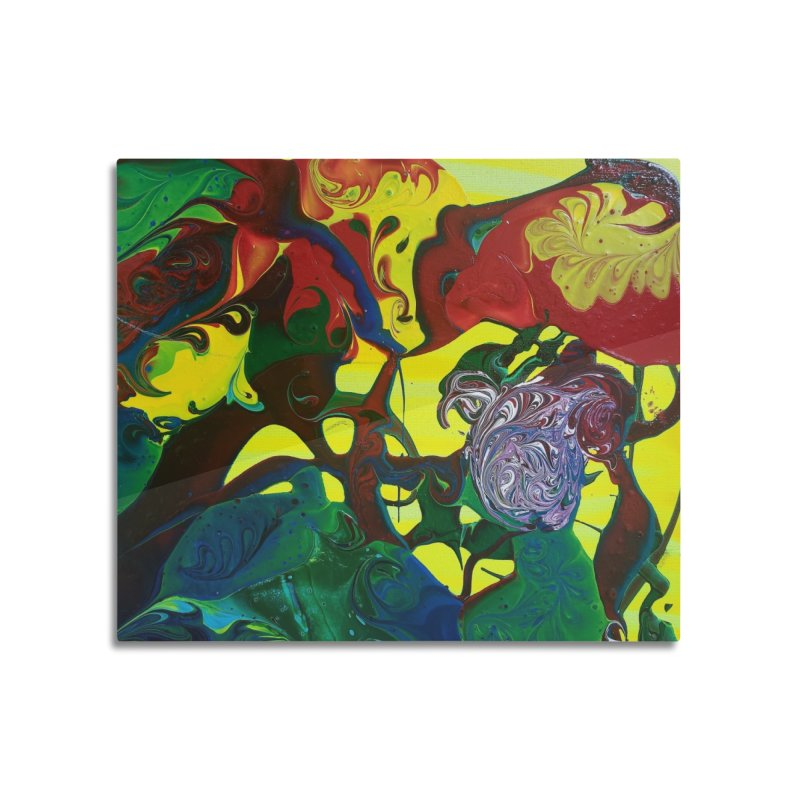 Abstract Flowers Home Mounted Acrylic Print by AlmaT's Artist Shop