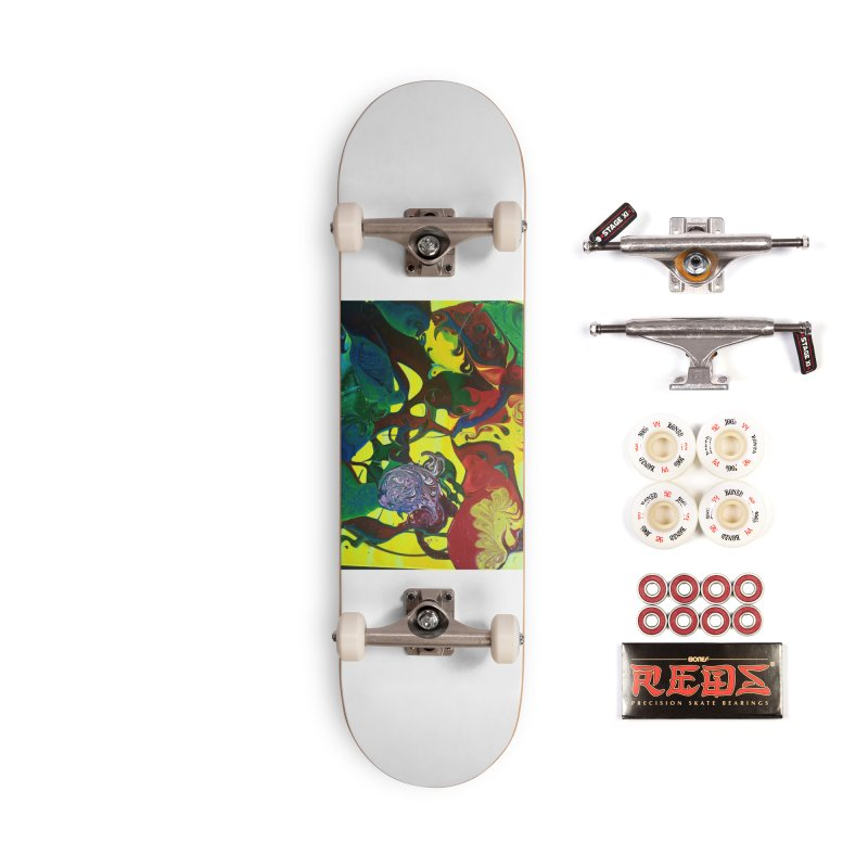 Abstract Flowers Accessories Complete - Pro Skateboard by AlmaT's Artist Shop