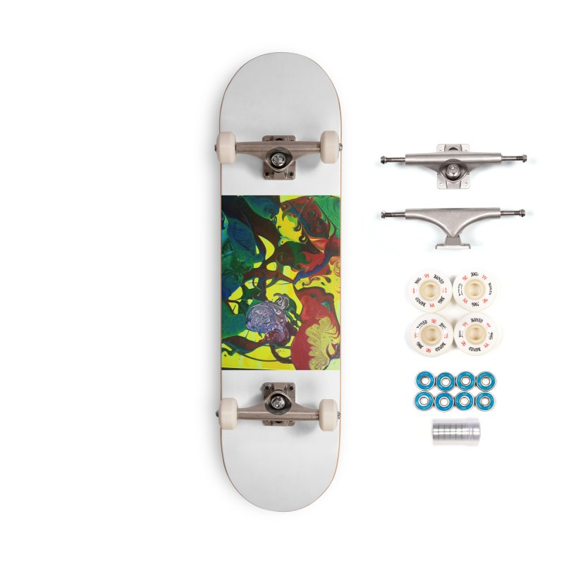 Abstract Flowers Accessories Complete - Premium Skateboard by AlmaT's Artist Shop