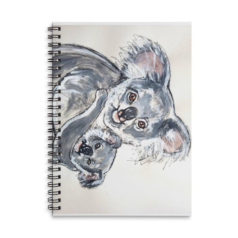Koala Accessories Lined Spiral Notebook by AlmaT's Artist Shop