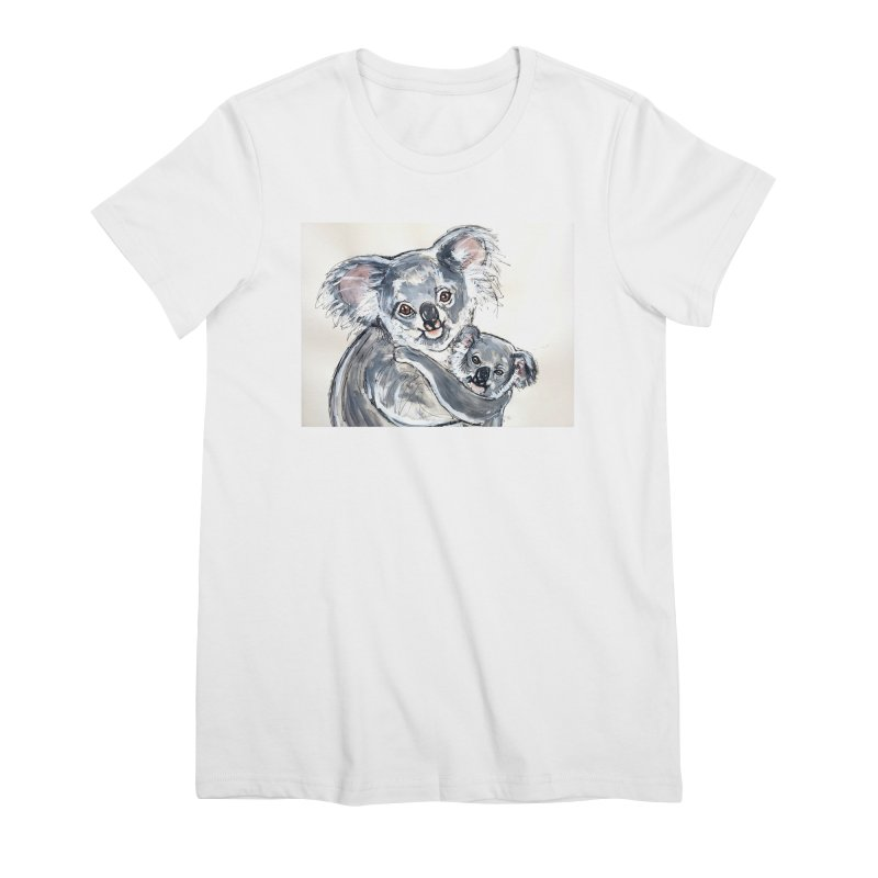 Koala Women's Premium T-Shirt by AlmaT's Artist Shop