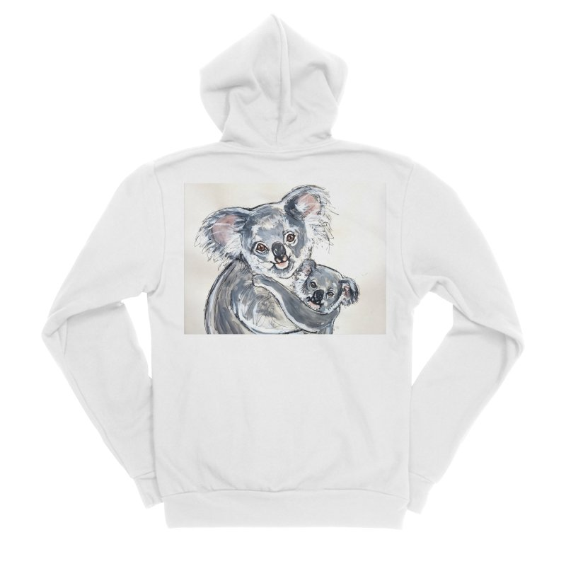 Koala Women's Sponge Fleece Zip-Up Hoody by AlmaT's Artist Shop