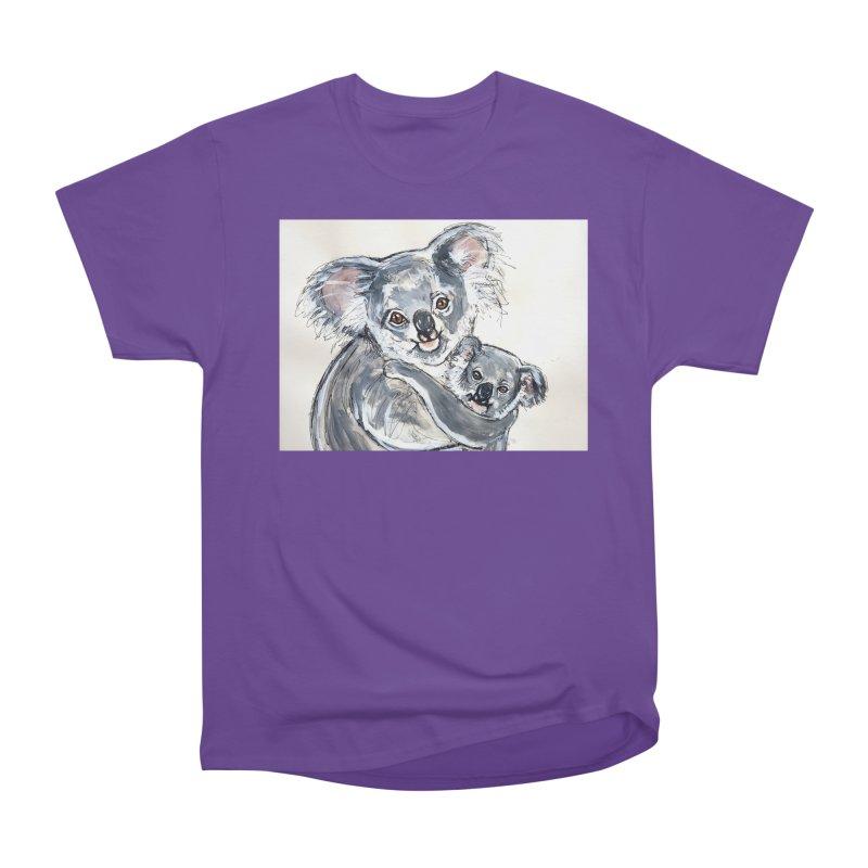 Koala Men's Heavyweight T-Shirt by AlmaT's Artist Shop
