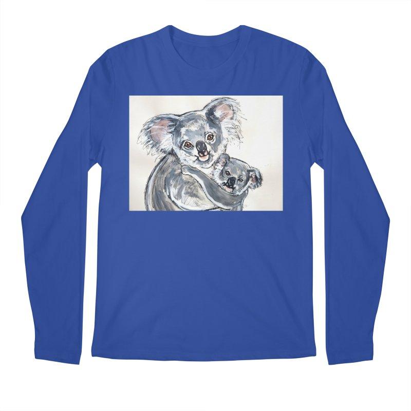 Koala Men's Regular Longsleeve T-Shirt by AlmaT's Artist Shop