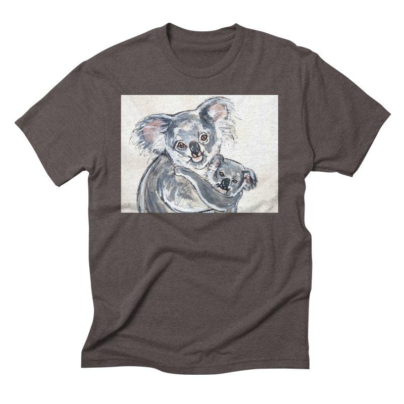 Koala Men's Triblend T-Shirt by AlmaT's Artist Shop