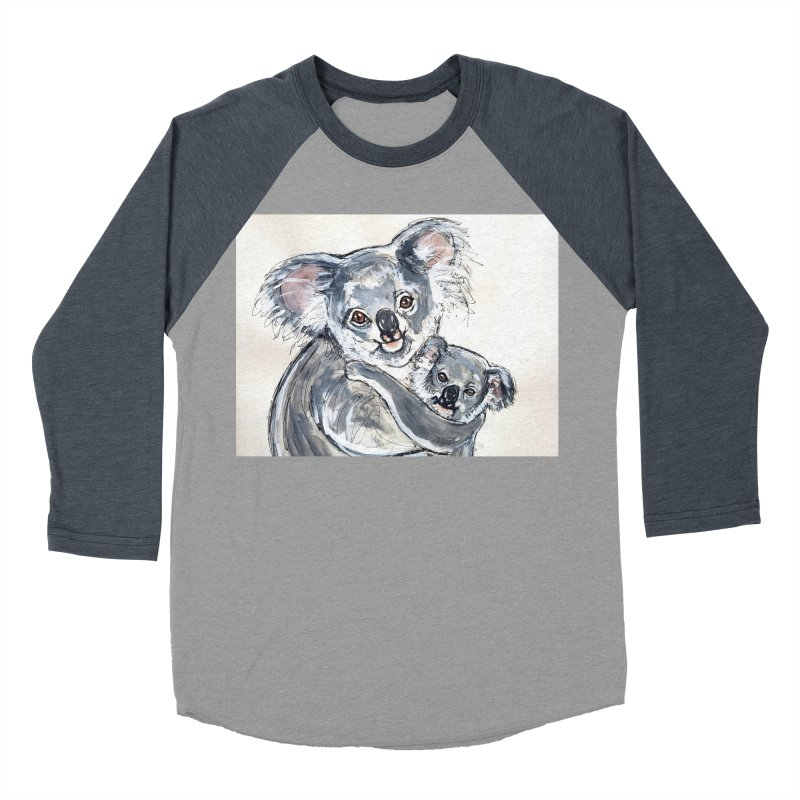 Koala Women's Baseball Triblend Longsleeve T-Shirt by AlmaT's Artist Shop