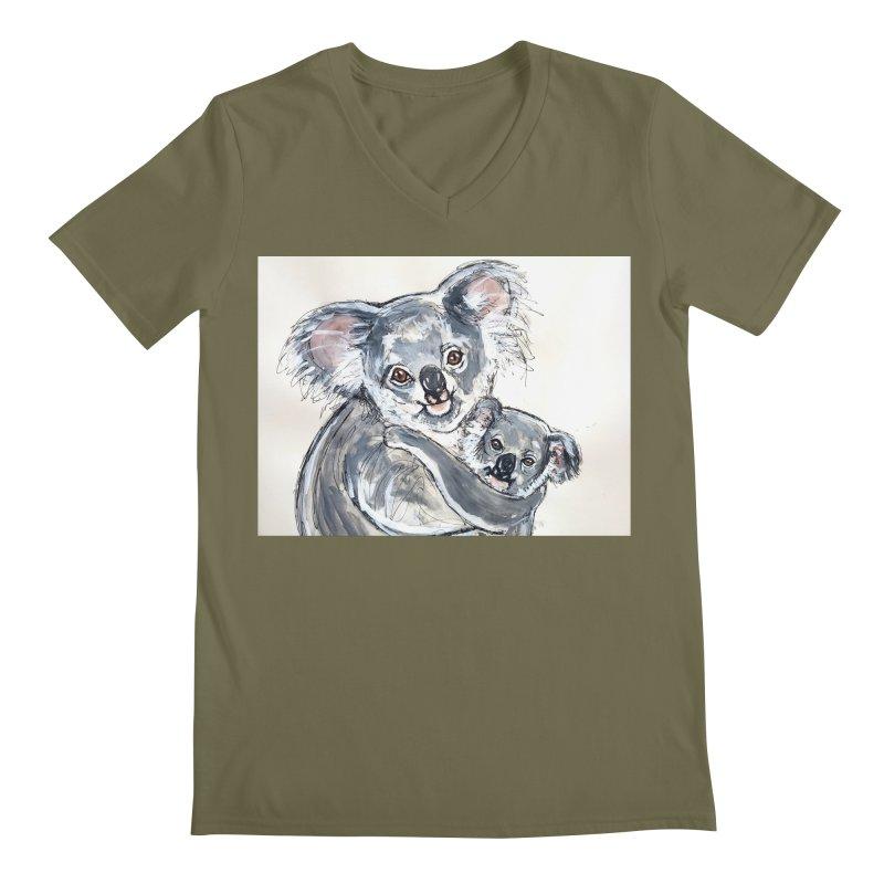 Koala Men's Regular V-Neck by AlmaT's Artist Shop