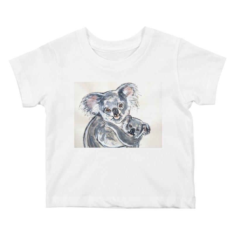 Koala Kids Baby T-Shirt by AlmaT's Artist Shop