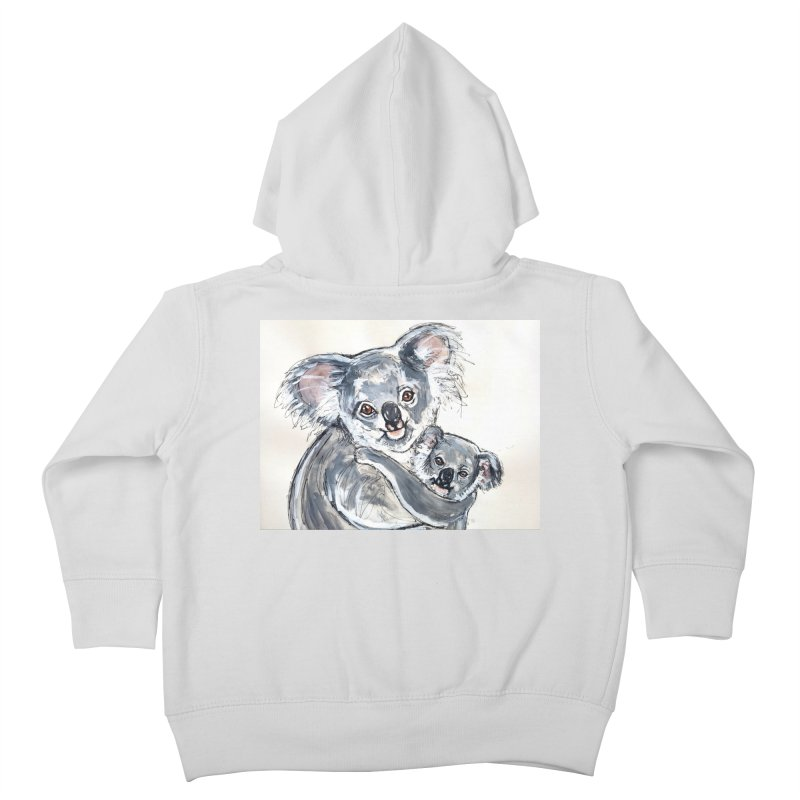 Koala Kids Toddler Zip-Up Hoody by AlmaT's Artist Shop
