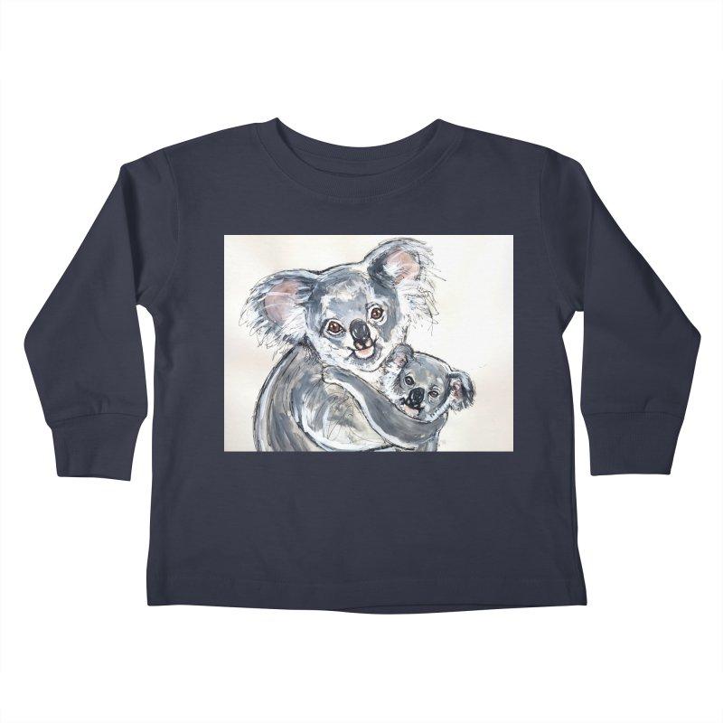 Koala Kids Toddler Longsleeve T-Shirt by AlmaT's Artist Shop