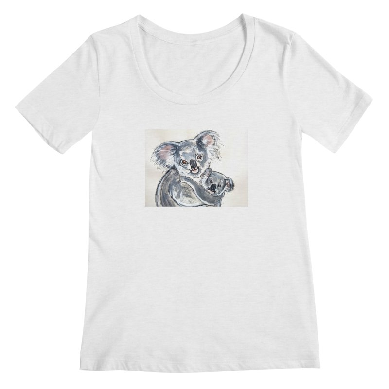 Koala Women's Regular Scoop Neck by AlmaT's Artist Shop
