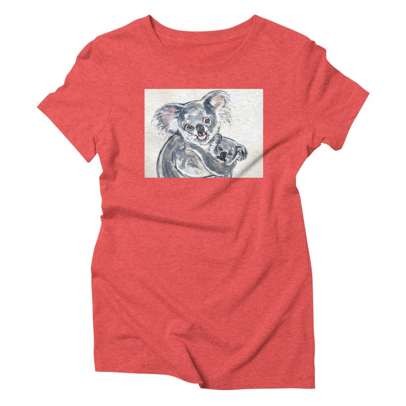 Koala Women's Triblend T-Shirt by AlmaT's Artist Shop