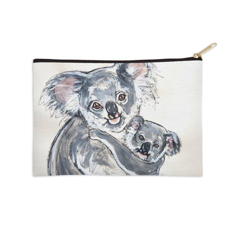 Koala Accessories Zip Pouch by AlmaT's Artist Shop