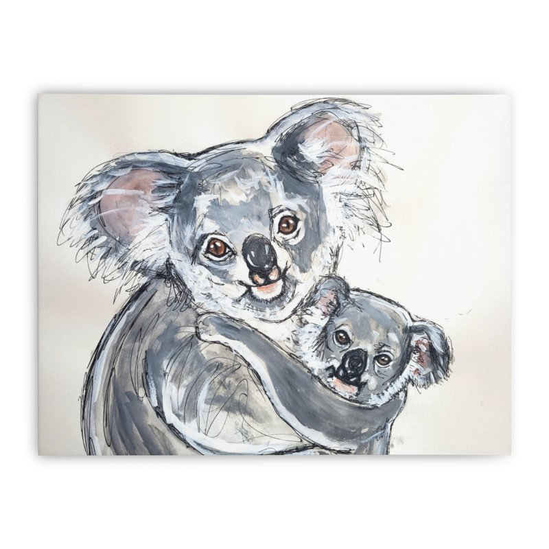 Koala Home Stretched Canvas by AlmaT's Artist Shop