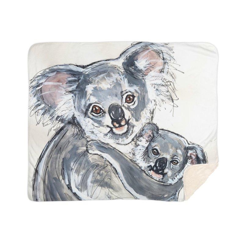 Koala Home Sherpa Blanket Blanket by AlmaT's Artist Shop