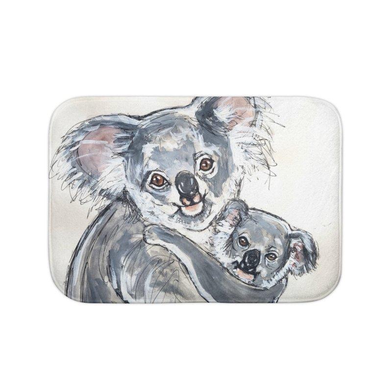 Koala Home Bath Mat by AlmaT's Artist Shop