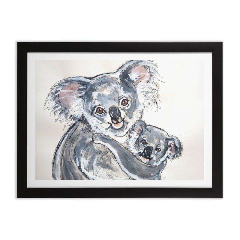 Koala Home Framed Fine Art Print by AlmaT's Artist Shop