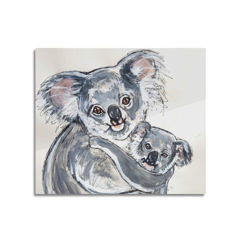 Koala Home Mounted Aluminum Print by AlmaT's Artist Shop