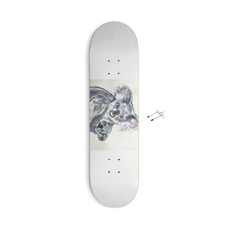Koala Accessories With Hanging Hardware Skateboard by AlmaT's Artist Shop