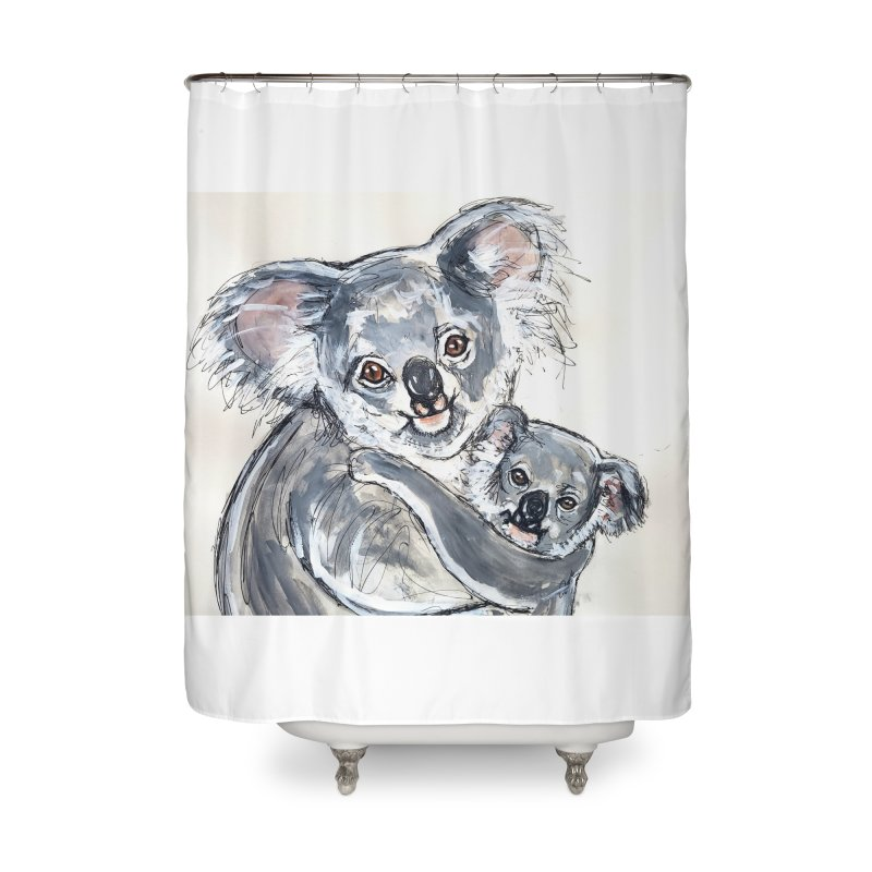 Koala Home Shower Curtain by AlmaT's Artist Shop