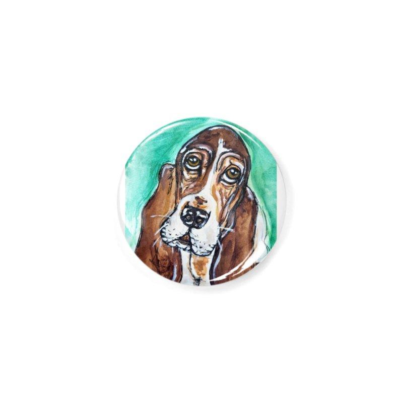 Basset Hound Accessories Button by AlmaT's Artist Shop