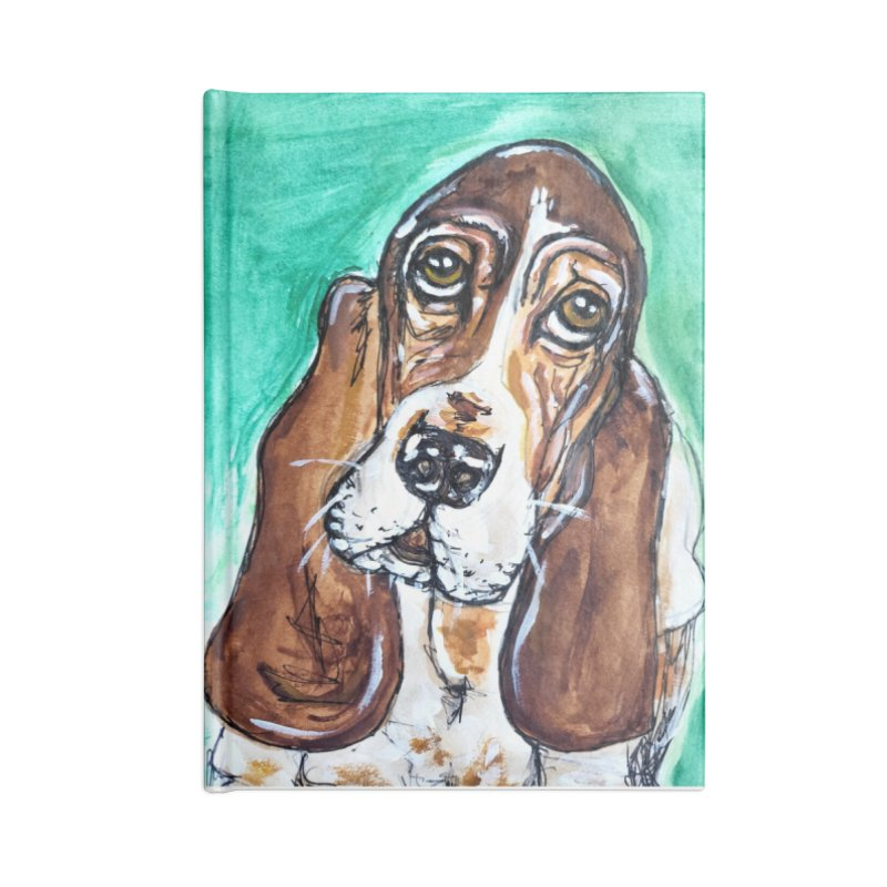 Basset Hound Accessories Lined Journal Notebook by AlmaT's Artist Shop