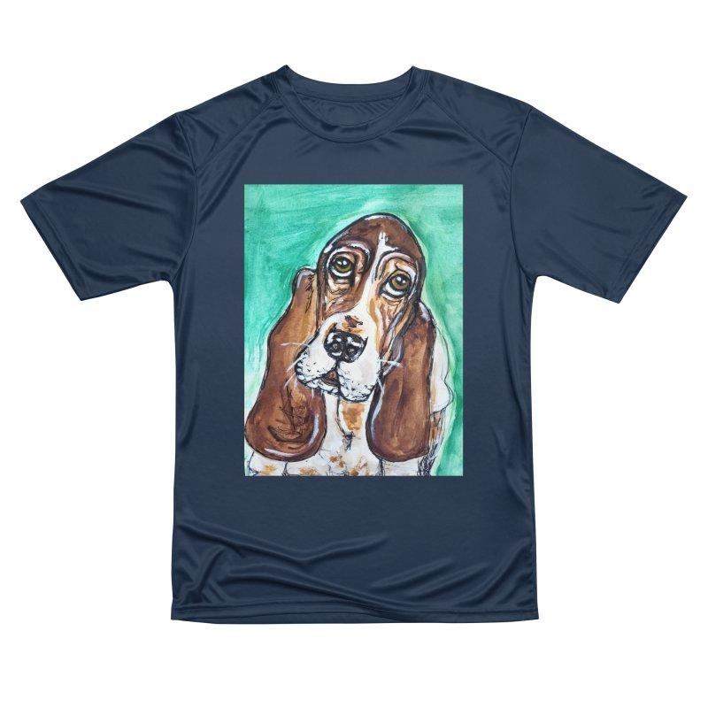 Basset Hound Women's Performance Unisex T-Shirt by AlmaT's Artist Shop