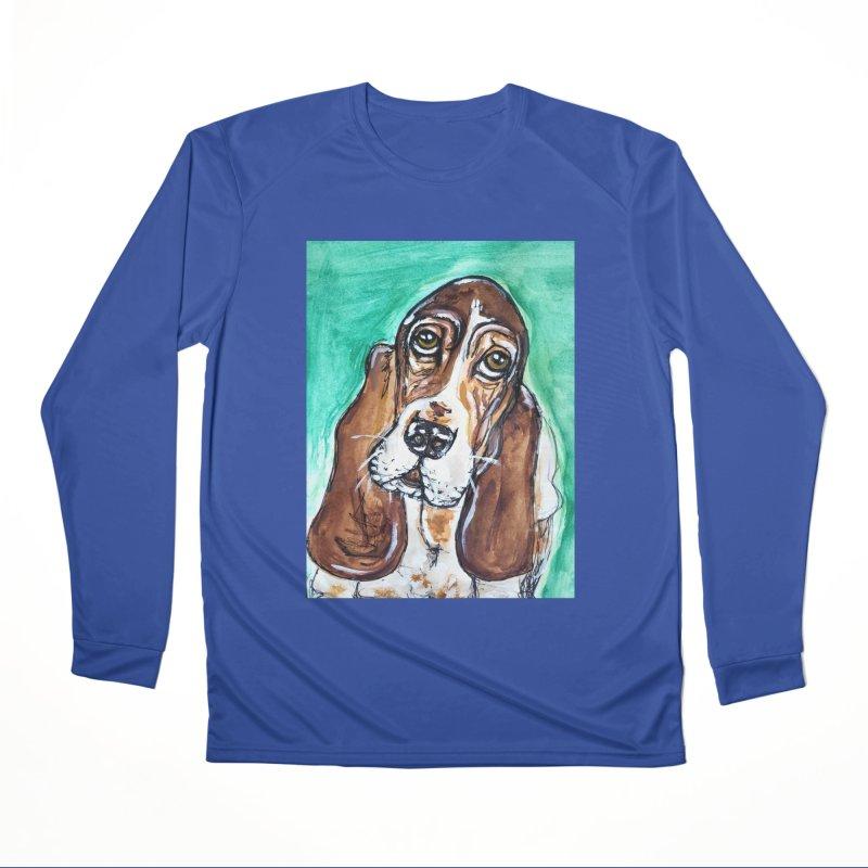 Basset Hound Men's Performance Longsleeve T-Shirt by AlmaT's Artist Shop