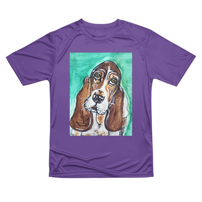 Basset Hound Men's Performance T-Shirt by AlmaT's Artist Shop